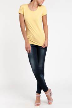 Однотонная желтая футболка TOM FARR