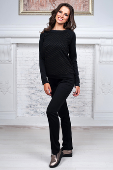 Повседневный костюм: брюки со стрелками и джемпер  Angela Ricci