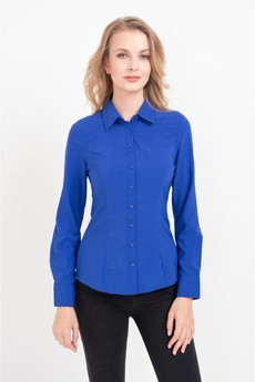 Женская рубашка синего цвета Marimay