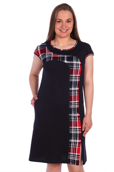 Домашнее черное платье  ZAVI
