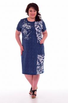 Синяя туника с карманом Новое кимоно