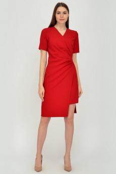 Красное платье с асимметричным кроем Viserdi